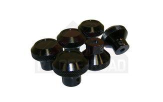 6 - Piece Knob Set (BLACK) (RT27002 / JM-01963 / RT Off-Road)