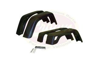 Extended Fender Flare Kit (4 Piece) (55254918K7 / JM-00181 / Crown Automotive)