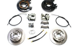 Rear Disc Brake Conversion Kit with Cables, TJ (4354425 / JM-04167 / TeraFlex)