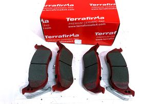 Rear Ceramic Brake Pad Set, KJ (UDB1660TF / 5083882 / JM-05397 / Terrafirma)