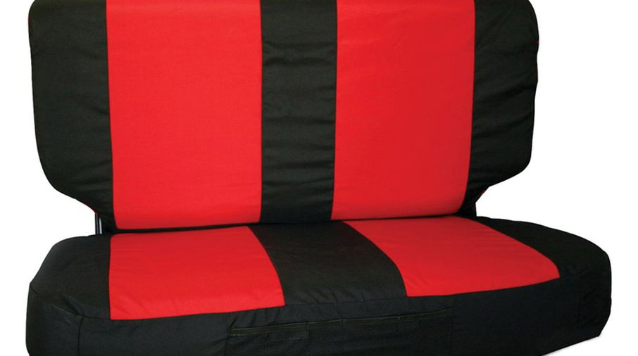 Rear Seat Cover Set (03-06, Black/Red) (SCP20230 / JM-03920/B / RT Off-Road)