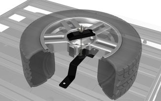Spare Wheel Clamp for Roof Rack (SWCL003 / JM-03179 / Front Runner)