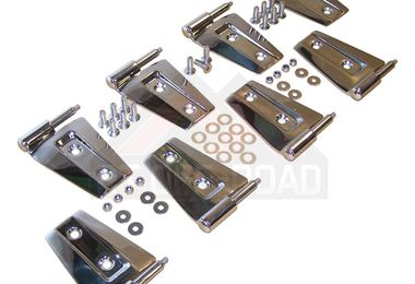Door Hinge Set (Stainless - 4 Dr JK) (488471 / JM-01794 / Crown Automotive)