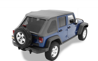Trektop NX Soft Top, JK 4 Door, Black Diamond (56823-35 / JM-01103 / Bestop)