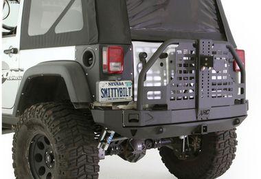 Rear Atlas Bumper with Tyre Carrier, (76896 / JM-02596 / Smittybilt)