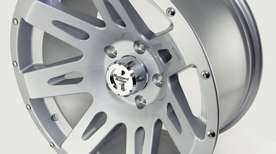 XHD Aluminum Wheel, Silver, 17X9, JK (15301.40 / JM-02192 / Rugged Ridge)
