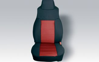 Front Seat Covers, Red Neoprene, TJ 97-02 (13210.53 / JM-03819 / Rugged Ridge)
