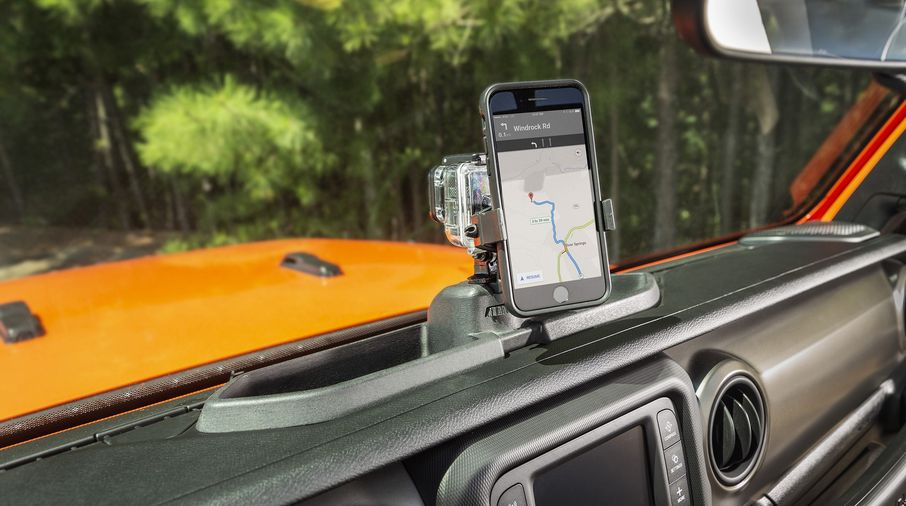 Dash Multi-Mount System Kit, Phone Holder, JL (13551.23 / JM-04480 / Rugged Ridge)