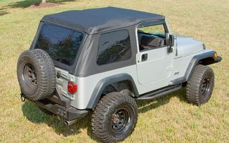 Bowless XHD Soft Top TJ, Sailcloth, Black Diamond (13751.35 / JM-02493 / Rugged Ridge)
