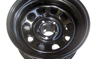 """Steel Wheel 15"""" x 8"""" Black (345-SB / JM-01908 / RT Off-Road)"""