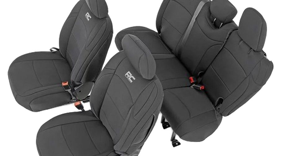 Seat Covers (JL Wrangler 4 Door) (RC91010 / JM-03932 / Rough Country)