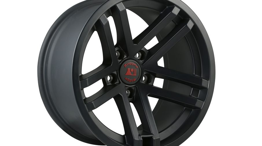 Jesse Spade Wheel, 17X9, Black Satin (15303.90 / JM-02597 / Rugged Ridge)