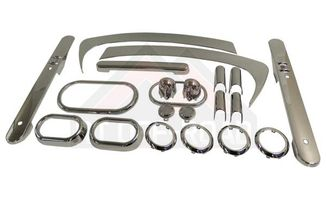 Complete Interior Chrome Trim Kit - 2-Door Model, Chrome (JKCKA2 / JM-01536 / RT Off-Road)