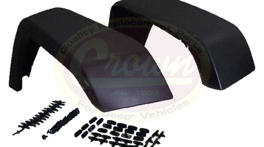 Crown Automotive 5KFK Black Front /& Rear Fender Flare Kit for Jeep Wrangler JK