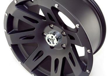 XHD Aluminum Wheel, Black Satin, 17X9, JK (15301.01 / TF4400 / JM-02177 / Rugged Ridge)