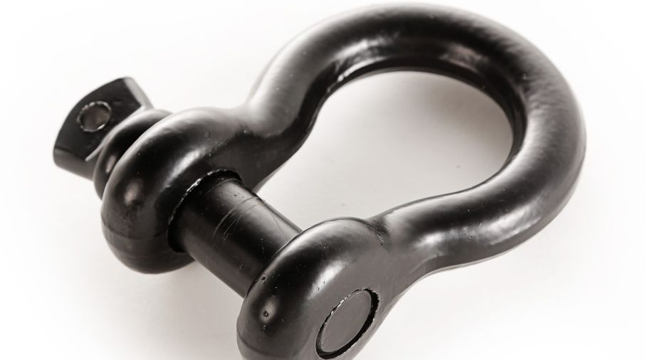 D-Ring Shackle, 3/4 inch, 9500 Lb, Black (11235.18 / JM-04693 / Rugged Ridge)