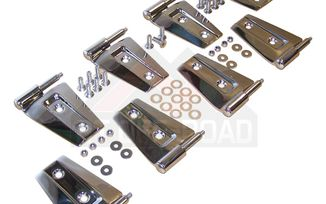 Door Hinge Set (Stainless - 4 Dr JK) (RT34079 / JM-01794 / RT Off-Road)