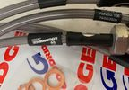 Stainless Steel Extended Braided Brake Hoses, Jimny (18+) (SSZ0601-4C-CL / SC-00241 / Goodridge)