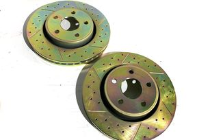 Front Performance Brake Disc / Rotor (Pair), 330mm, WK2 (J4BM47493 / 52124762 / JM-05390 / Terrafirma)