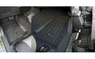 Floor Liner, F/R; Blk (12987.01 / JM-04135/A / Omix-ADA)