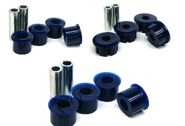 Leaf Spring / Shackle Poly Bushing Set, Rear, XJ (KIT0071K / JM-04504 / SuperPro)