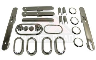 Complete Interior Chrome Trim Kit - 4-Door Model, Chrome (JKCKA4 / JM-01537 / RT Off-Road)
