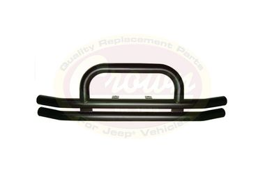 Front Bumper, Black Double Tube w/ Hoop (B8420 / JM-02059 / RT Off-Road)