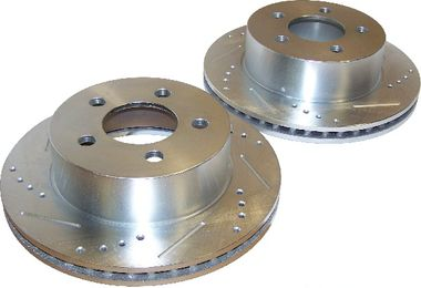 Brake Rotor Set (Front; Drilled & Slotted) 1999 on (5016434DS / JM-01327 / RT Off-Road)