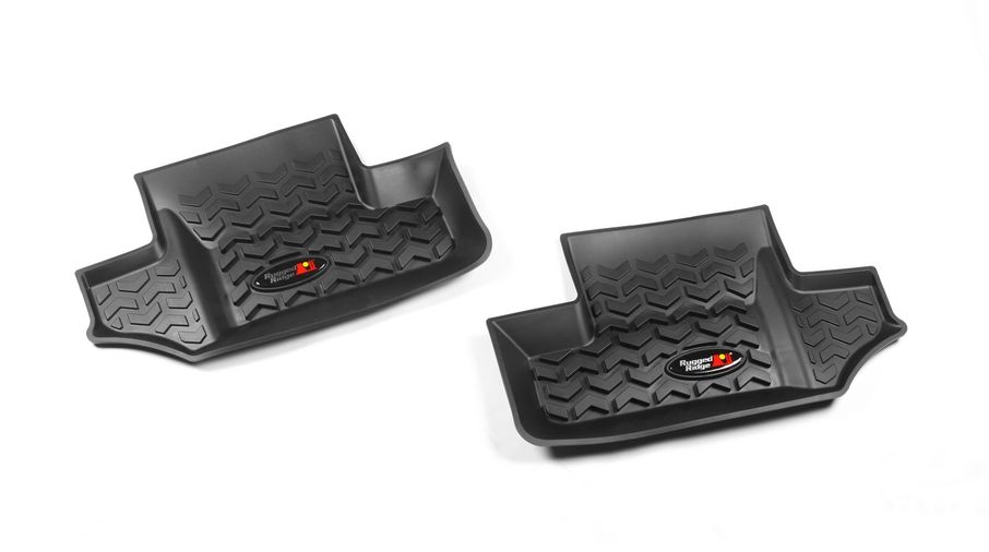 Rear Floor Liners, JK 2 Door (12950.02 / JM-02438 / Rugged Ridge)