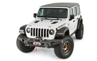 Front Recovery Bumper, Warn Elite Full Width, JL (101335 / JM-04369 / Warn)