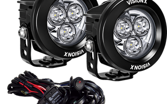 """3.7"""" CG2 Multi LED Mini Light Cannon Kit (CG2-CPM310KIT / JM-04665 / Vision X lighting)"""