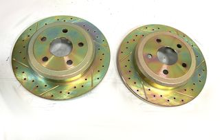Rear Performance Brake Disc / Rotor (Pair), 330mm BRY Solid Rotor, WK2 (J4BM47522 / 52124763 / JM-05398 / Terrafirma)