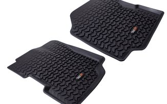 Floor Liners, Front, Blk, 76-95 CJ & Wrangler (12920.21 / JM-03266 / Rugged Ridge)
