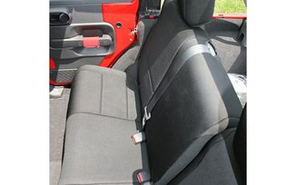 Neoprene Rear Seat Cover, Black, 2 Door (13265.01 / JM-03059 / Rugged Ridge)