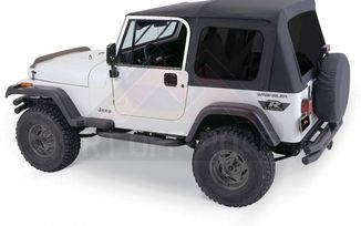 Complete Soft Top, Black Diamond, CJ & YJ (CT20035T / JM-00461 / RT Off-Road)