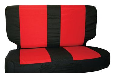 Rear Seat Cover Set (03-06, Black/Red) (SCP20230 / JM-03920 / RT Off-Road)