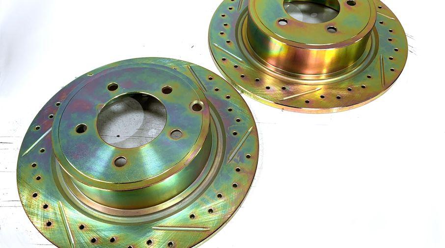 Rear Performance Brake Disc / Rotor (Pair), MK, 302mm (J3BM47543/4743999AA / JM-05407/I / Terrafirma)