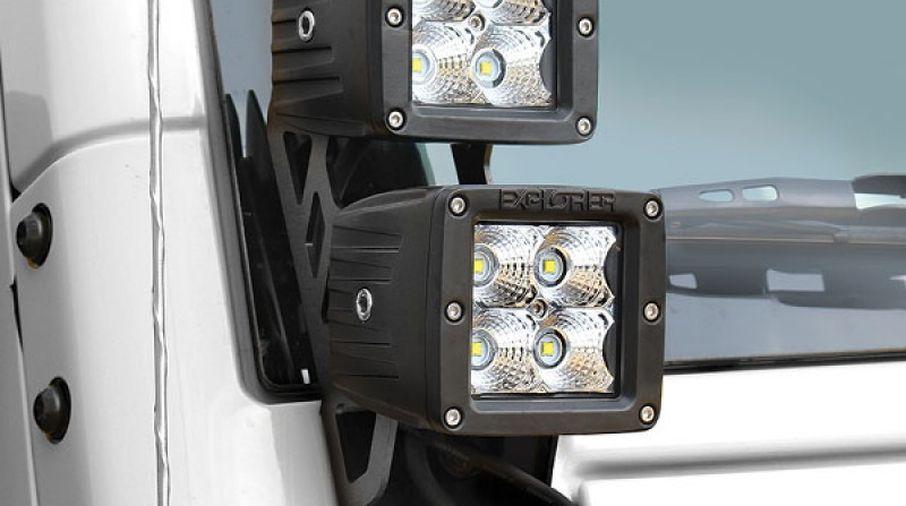 Dual LED Sport Light Kit, JK (76410P / JM-04529 / Pro Comp)