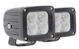 "2"" x 2"" LED Square Light Pair, Flood (76404P / JM-02510 / Pro Comp)"