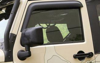 Window Rain Deflectors, JK 2 Door (11349.11 / JM-03966 / Rugged Ridge)