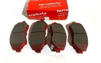 Front Ceramic Brake Pad Set, JK, KK (UDB4074TF / 68003701 / JM-05395 / Terrafirma)
