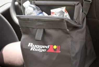 Trash Bin, Seat Back Mounted, Removable (13551.40 / JM-03924 / Rugged Ridge)