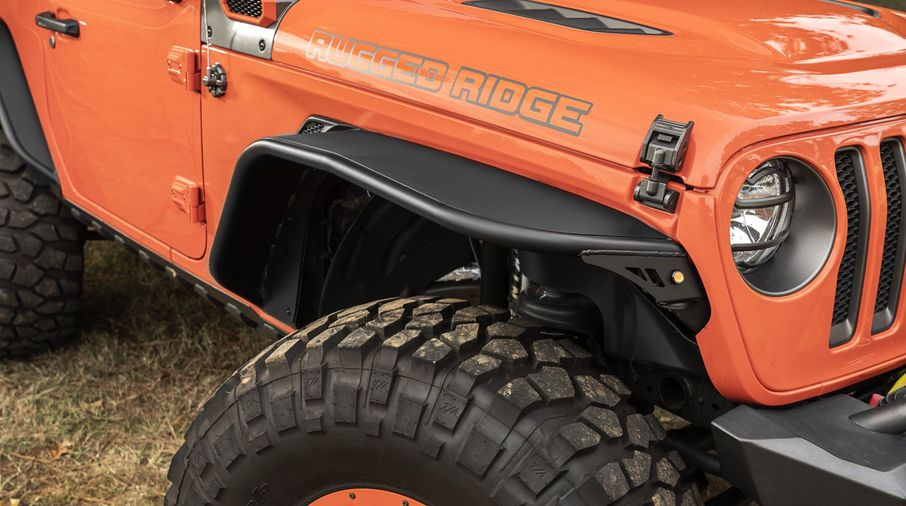 HD Steel Tube Fenders, Full Set, JL (11615.73 / JM-05316 / Rugged Ridge)