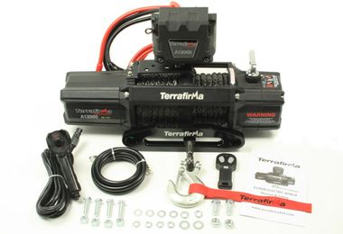 Terrafirma A12000 Winch Synthetic Rope Wireless & Cable Remote Control (TF3301 / JM-04272 / Terrafirma)