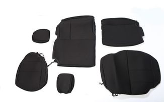 Neoprene Rear Seat Cover, Black, 4 Door (13264.01 / JM-03061 / Rugged Ridge)