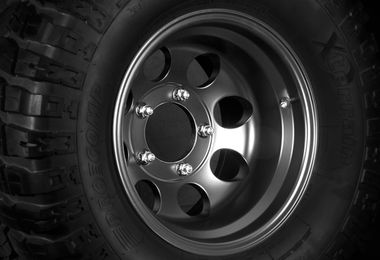 Black Alloy Wheel, 15x10 (1430.21 / JM-03139 / DuraTrail)