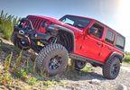 Front Recovery Bumper, Warn Elite Full Width w/ Hoop, JL (101337 / JM-04368 / Warn)