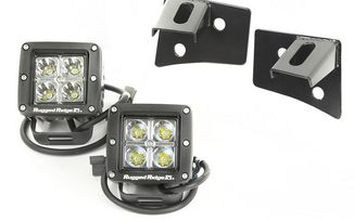 Windshield Bracket LED Light Kit, Square, JK (11027.10 / JM-02383 / Rugged Ridge)