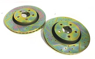 Front Performance Brake Disc / Rotor (Pair), 350mm, WK2 (J4BM47494 / 68035012 / JM-05389 / Terrafirma)
