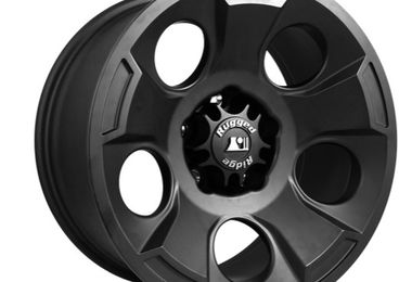 Drakon Wheel, 17X9 Black Satin, JK (15302.01 / JM-02183 / Rugged Ridge)